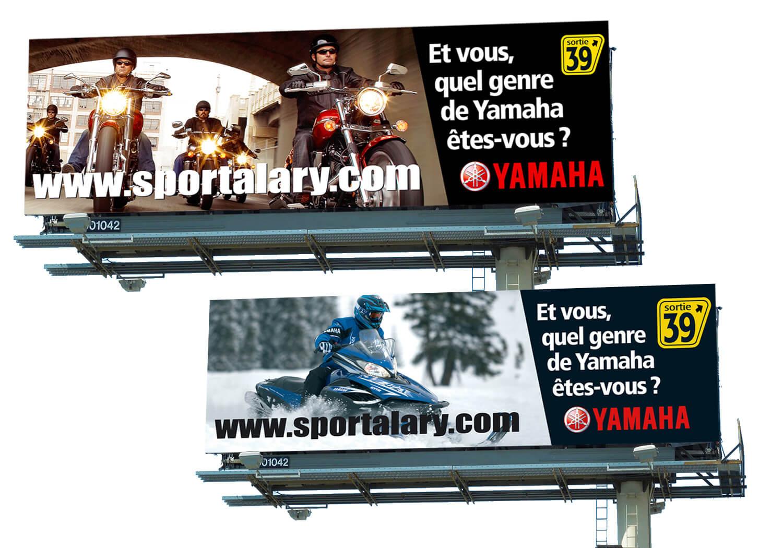 Campagne «Quel genre de Yamaha êtes-vous» pour panneau d'affichage du concessionnaire Alary Sport