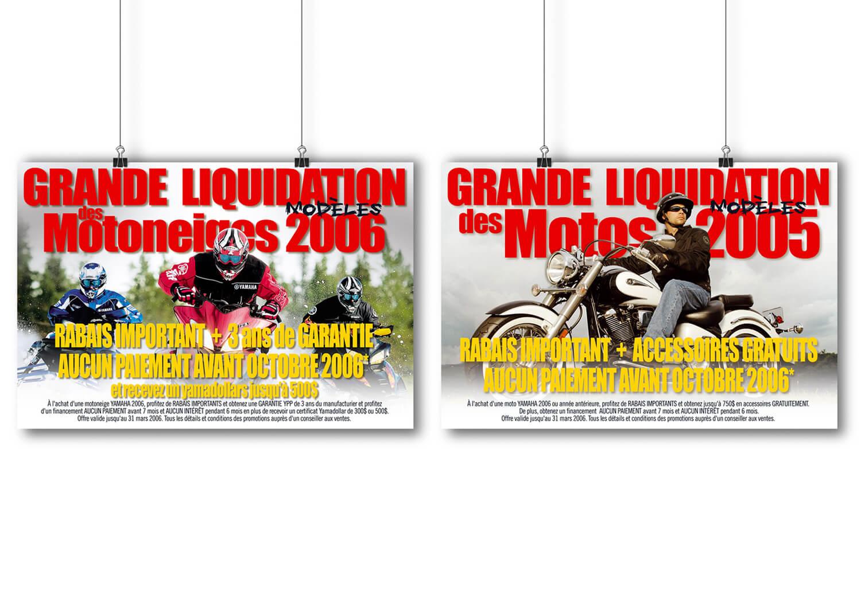 Affiche PLV pour la liquidation de ses produits chez Alary Sport.