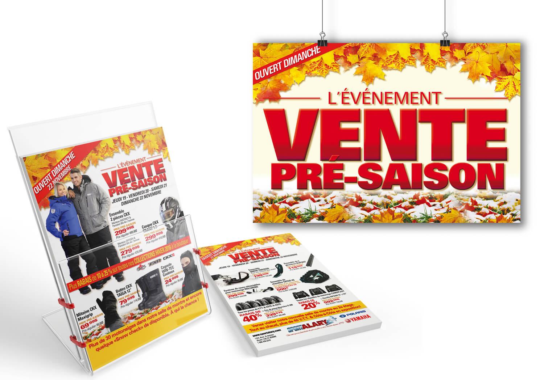 Campagne publicitaire pour «L'événement Pré-Saison Automne» de Alary Sport.