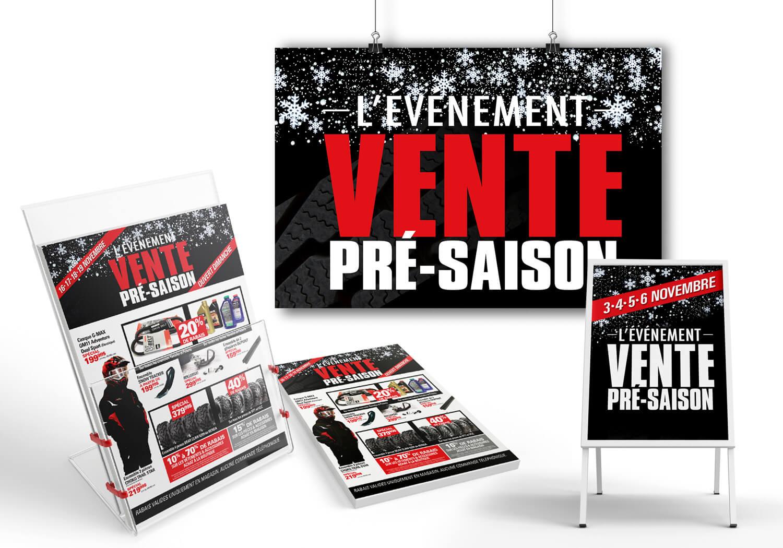 Campagne publicitaire pour «L'événement Pré-Saison» de Alary Sport.