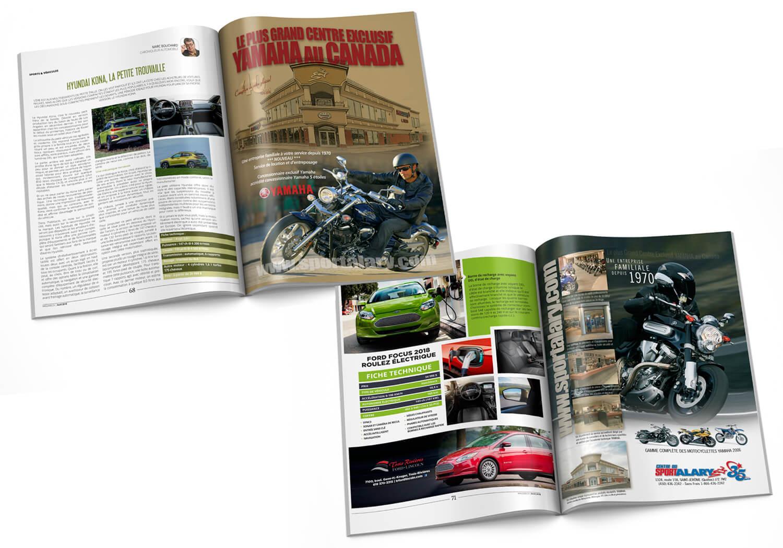 Publicités corporatives pour Alary Sport dans différents magasines.