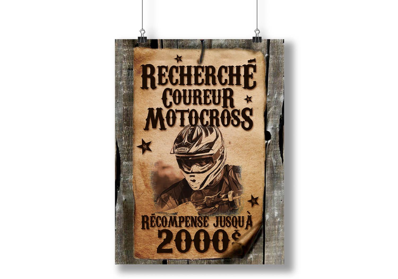 Affiche pour le recrutement de coureurs pour l'équipe de course Alary Sport.