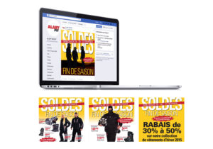 Facebook Campagne publicitaire pour la vente «Soldes fin de saison» de Alary Sport.
