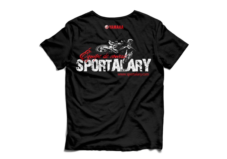 Design des chandails «Équipe de course», cadeau promotionnel pour les coureurs de l'équipe de course de Alary Sport.