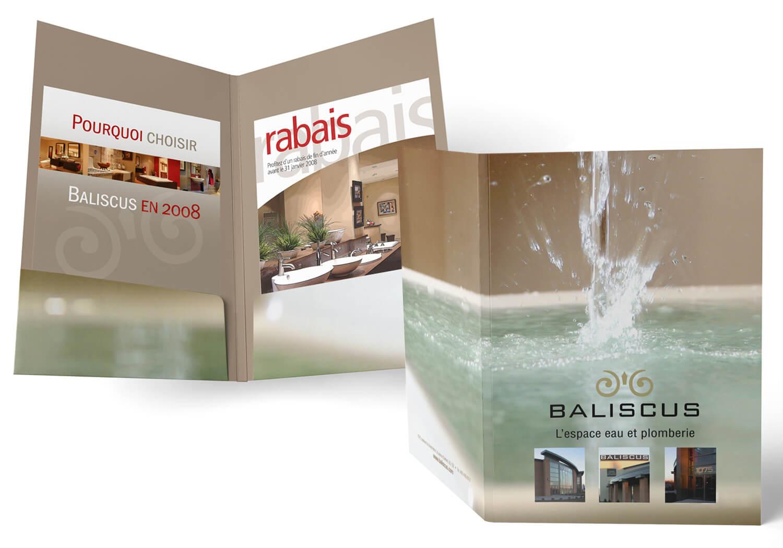 Pochette de presse et feuillets promotionnelle pour Baliscus