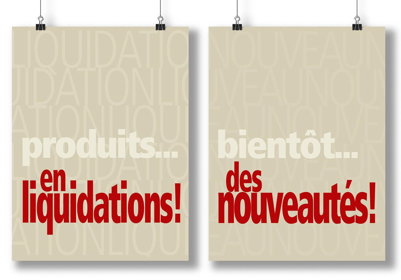 Affiches publicitaires PLV de Baliscus