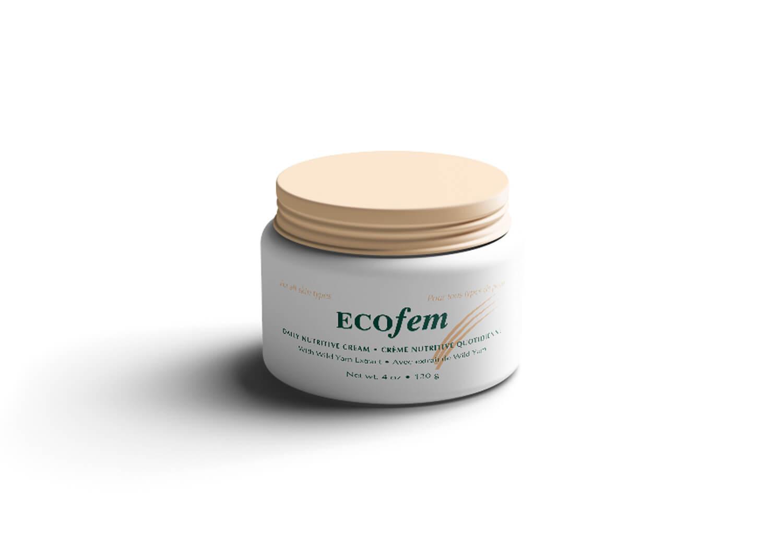 Étiquette emballage pour crème par Écofem