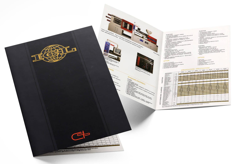 Brochure technique pour la machinerie de CD Plastic
