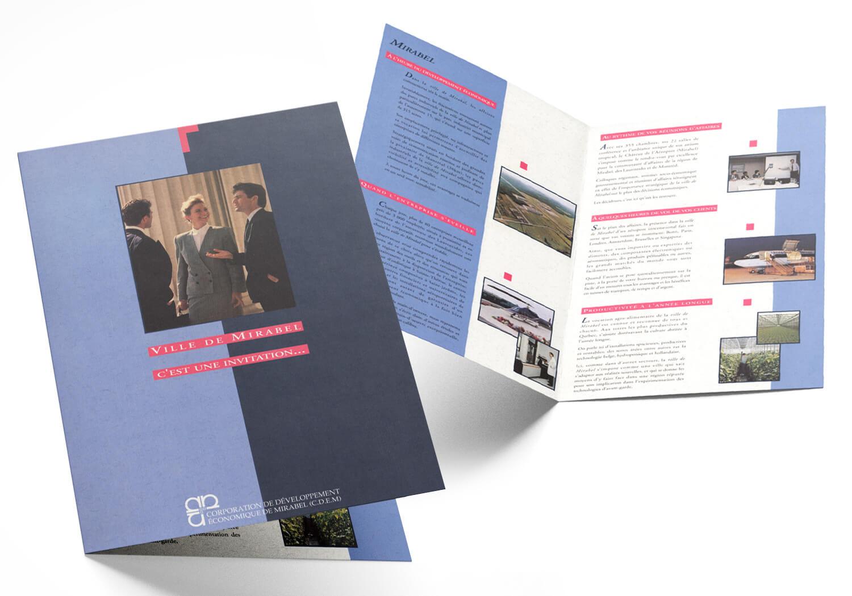 Brochure publicitaire de la CDE (corporation de développement économique) de Mirabel