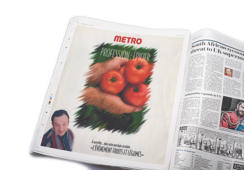 Annonce publicitaire de Métro dans le journal