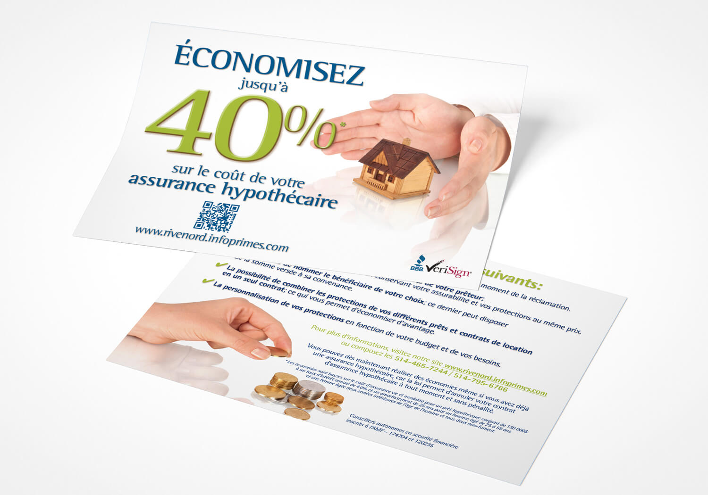 Carton publcitaire sur l'assurance hypothécaire