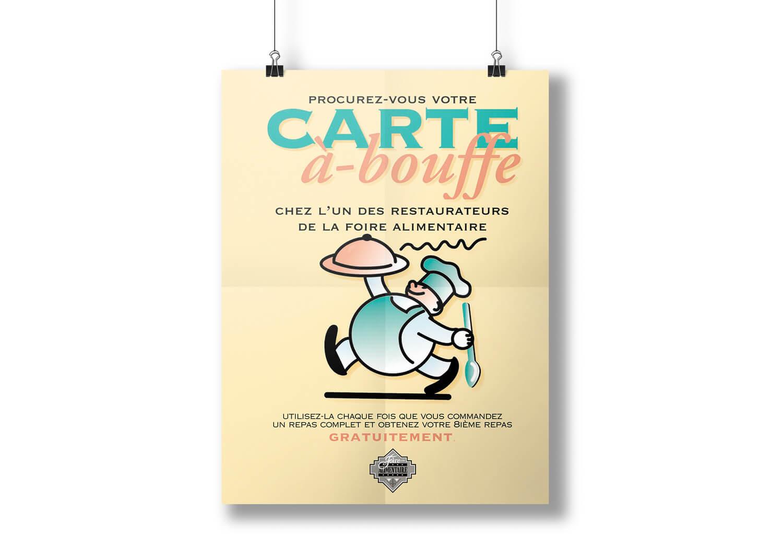 Affiche la carte à boufffe de la Place Rosemère