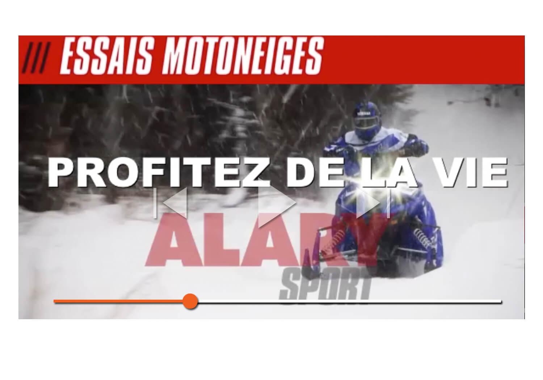 Essais de motoneiges chez Alary Sport